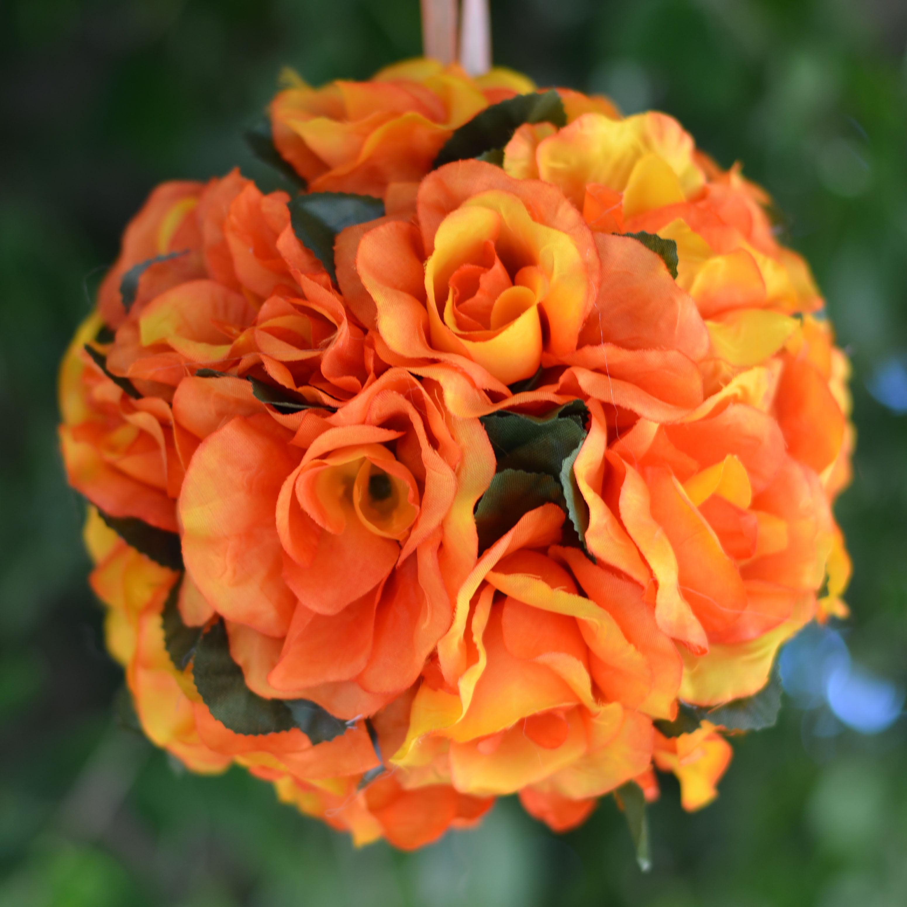 Efavormart 4 PCS Rose Pomander Silk Flower Balls for DIY Wedding Bouquets Centerpieces Arrangements Decorations Wholesale Supplies