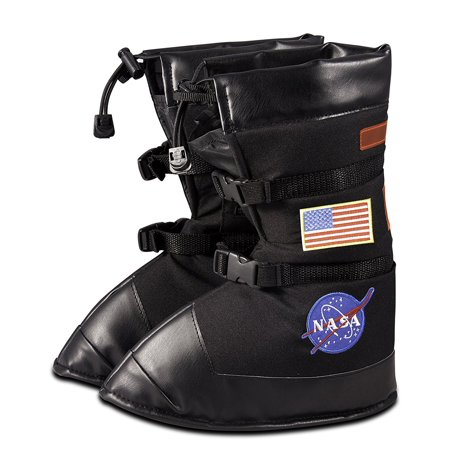 Astronaut Boots (Astronaut Boots, size Medium, Black, with NASA patches, HIGH QUALITY DESIGN and details. By)