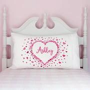 Personalized A Million Hearts Kids Pillowcase
