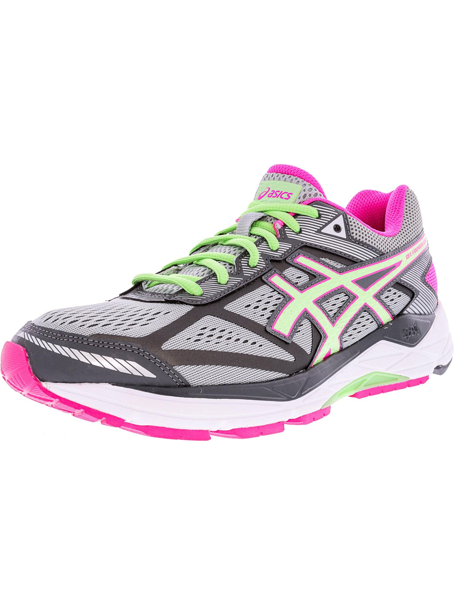 Asics Women's Gel-Foundation 12 Silver Grey / Pistachio Pink Glow Ankle-High Running Shoe - 8M