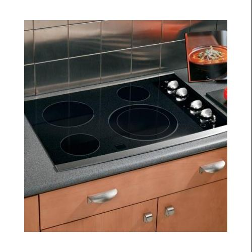 """GE CleanDesign JP356SMSS 30"""" Smoothtop Electric Cooktop with 4 Ribbon Elements  9""""/12"""" Dual Element"""