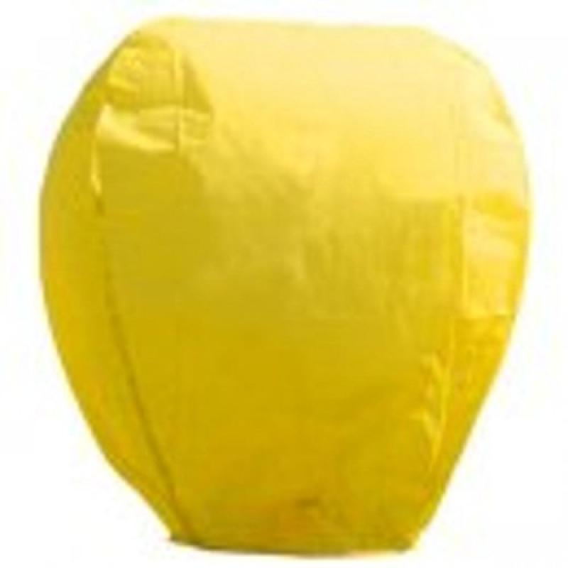 Pack of 4 Asian Inspired Yellow Chinese Sky Lantern Party Luminaries