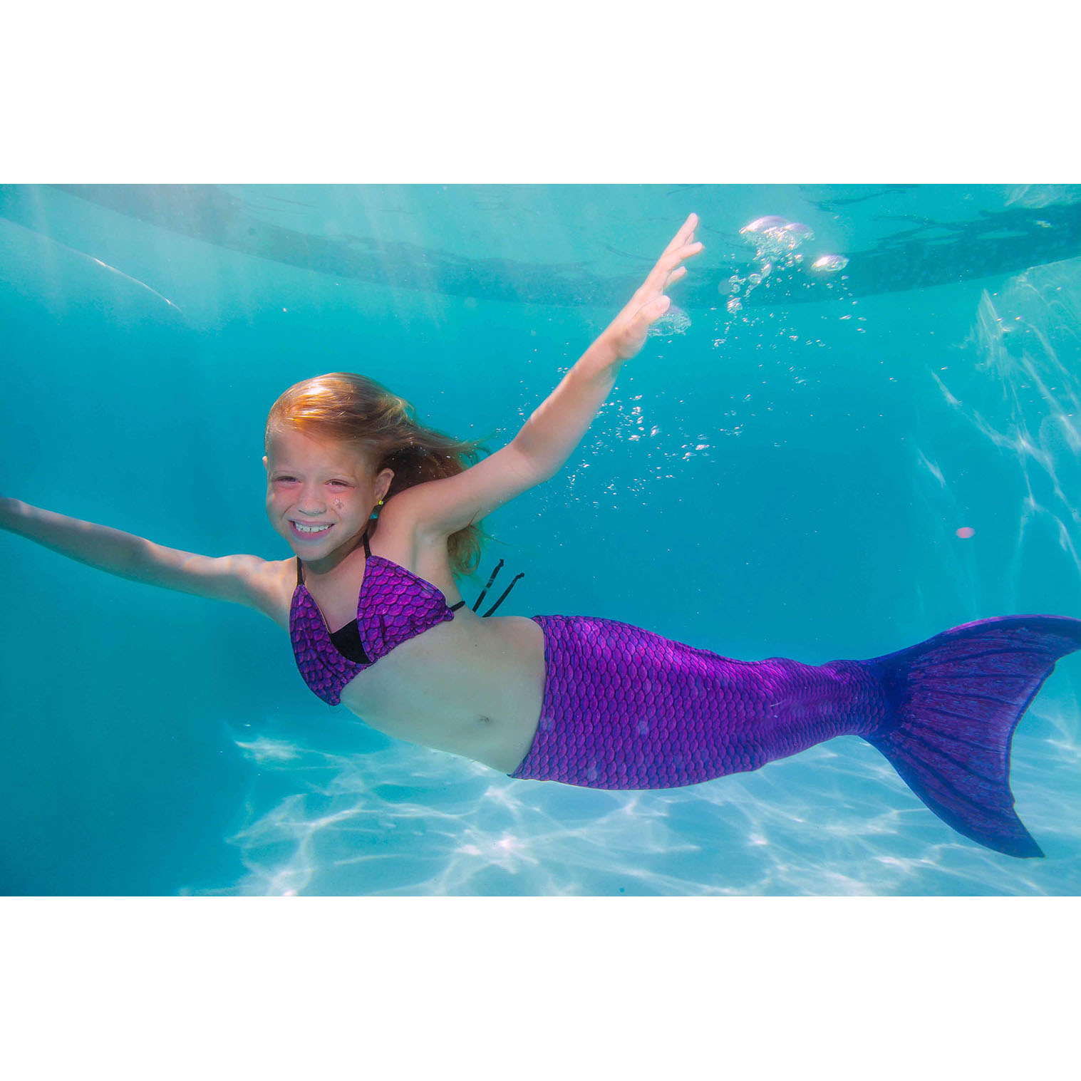 Mermaid Tails By Fin Fun With Monofin For Swimming In Kids And