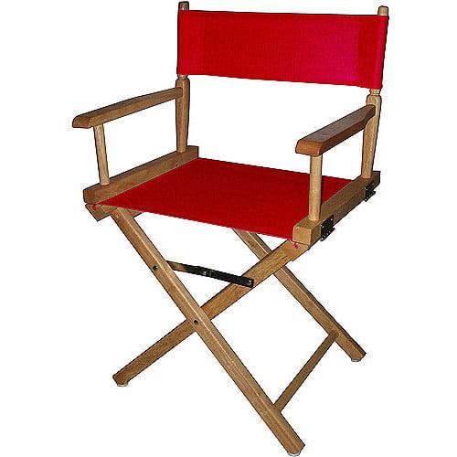 18 Directors Chair Natural FrameRed Canvas Walmartcom
