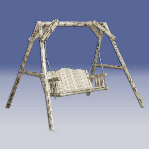 Montana Woodworks MWLS Montana A-Frame Lawn Swing