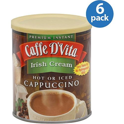 Caffe D'Vita Irish Cream Cappuccino Mix, 16 oz, (Pack of 6)