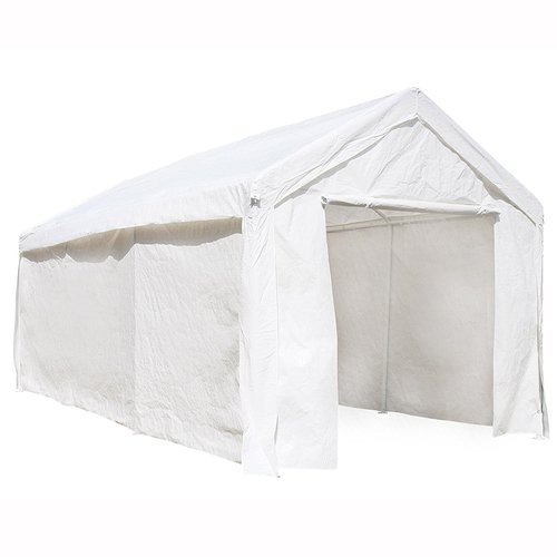 Aleko Heavy Duty Outdoor Canopy Carport Tent 10 X 20 FT White by ALEKO