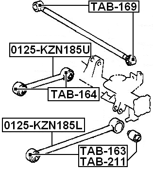 Rear Trailing Arm For Toyota Hilux Surf Kdn185 1995-2002 Bushing