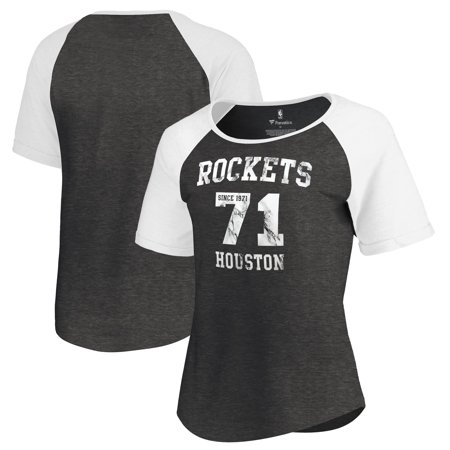 Houston Rockets Fanatics Branded Women's Hang Time Short Sleeve Raglan T-Shirt - Black Adidas Houston Rockets Short Sleeve T-shirt