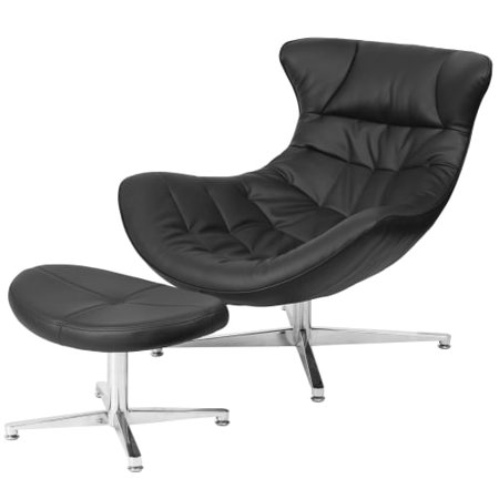 Peachy Delacora Ff Zb Cocoon 32 5 Wide Leather Accent Chair With Cjindustries Chair Design For Home Cjindustriesco