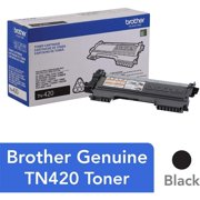 Brother Genuine Toner Cartridge, TN420, Replacement Black Toner, Page Yield Up To 1,200 Pages