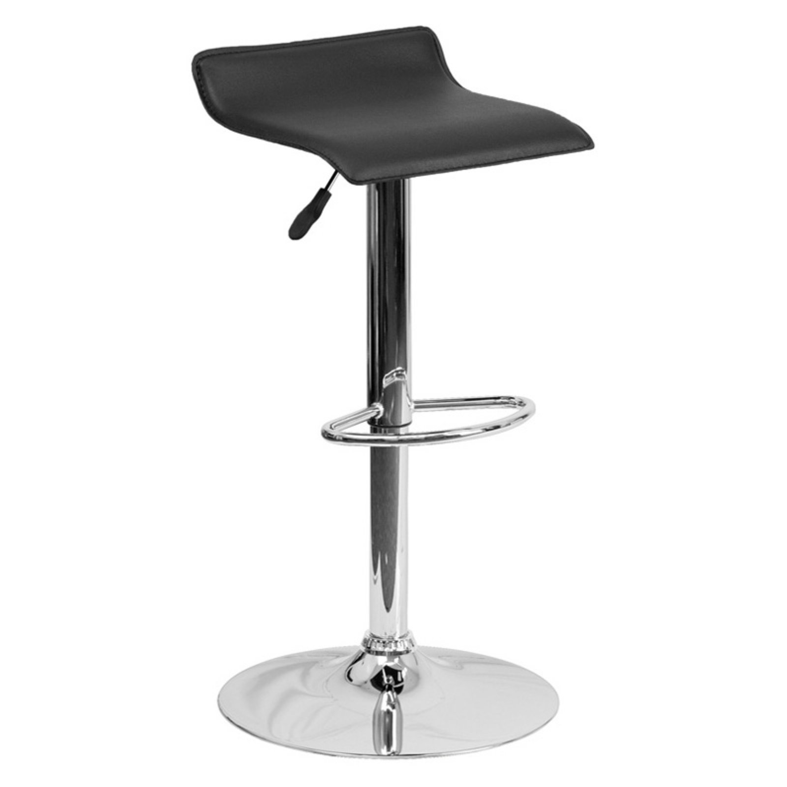 flash furniture vinyl adjustable height barstool with chrome base multiple colors