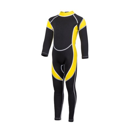 Children Diving Suit 2.5 MM Warm Keeping Surfing Swimming Suits Snorkeling Wear for Kids Boys and Girls Black yellow 4#(height (Wetsuit For Swimming)