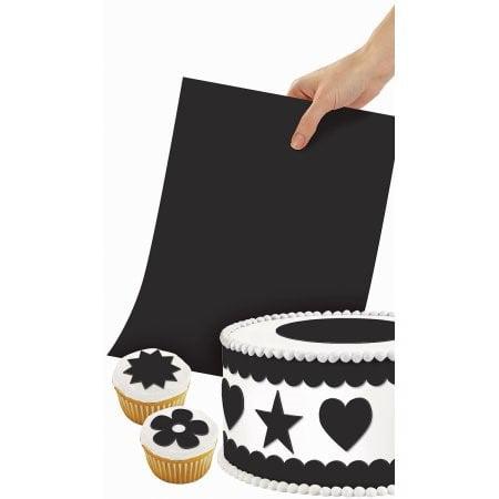 Wilton Sugar Sheet 8 inch x 11 inch 1-Pkg-Black