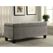 Linon Carmen Shoe Storage Ottoman, 20 inches Seat Height, Multiple Colors