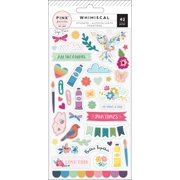 Puffy Stickers - Whimsical - Pink Paislee