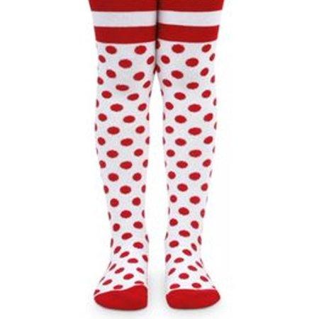 2d795ab35 Jefferies Socks - Jefferies Socks Baby Girls Red White Polka Dot Stripe  Pattern Tights 18M - Walmart.com