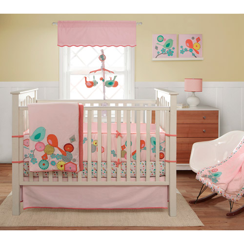Migi Modern Blossom 3-Piece Crib Bedding Set