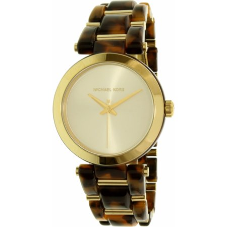 Michael Kors Women's Delray MK4314 Brown Plastic Quartz Watch