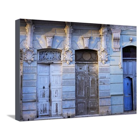 Building Facades in Evening Light, Cienfuegos, Cuba, West Indies, Central America Stretched Canvas Print Wall Art By Lee -