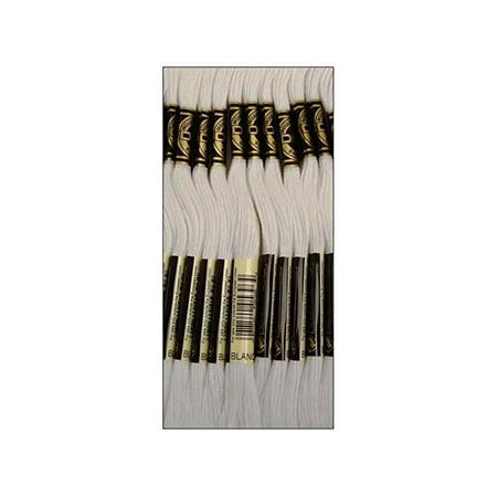 - DMC 6 Strand Embroidery Floss Cotton Thread Bulk White 8.7 Yards 12 Skeins