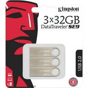 Kingston 32GB USB 2.0 DataTraveler SE9 Metal casing 3 Pack (DTSE9H/32GB-3P)