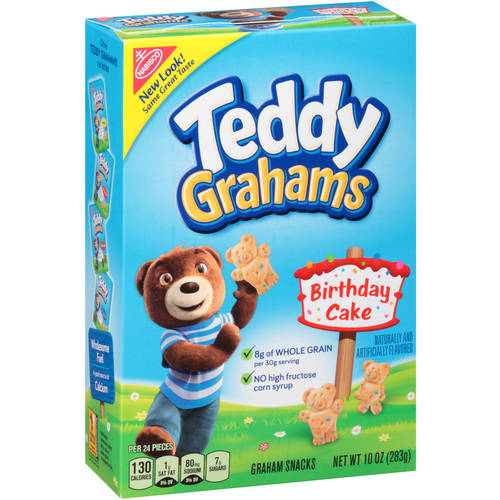 Nabisco Honey Maid Birthday Cake Teddy Grahams, 10 oz