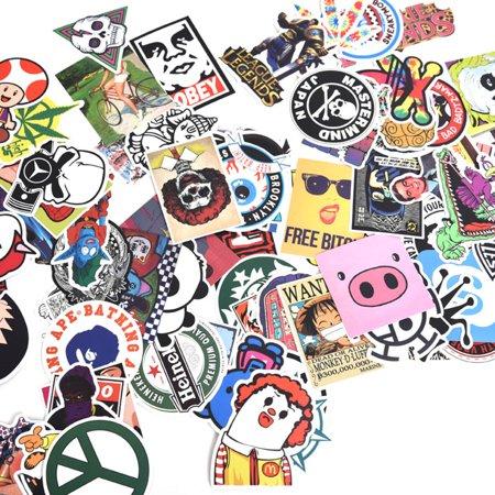 300pcs mix lot stickers skateboard sticker graffiti laptop luggage car decals