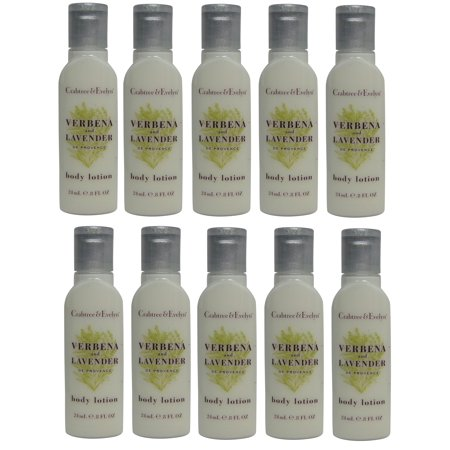 Crabtree & Evelyn Verbena & Lavender Body Lotion Lot of 10 each 0.8oz Bottles. Total of 8oz (Crabtree And Evelyn Rose Lotion)