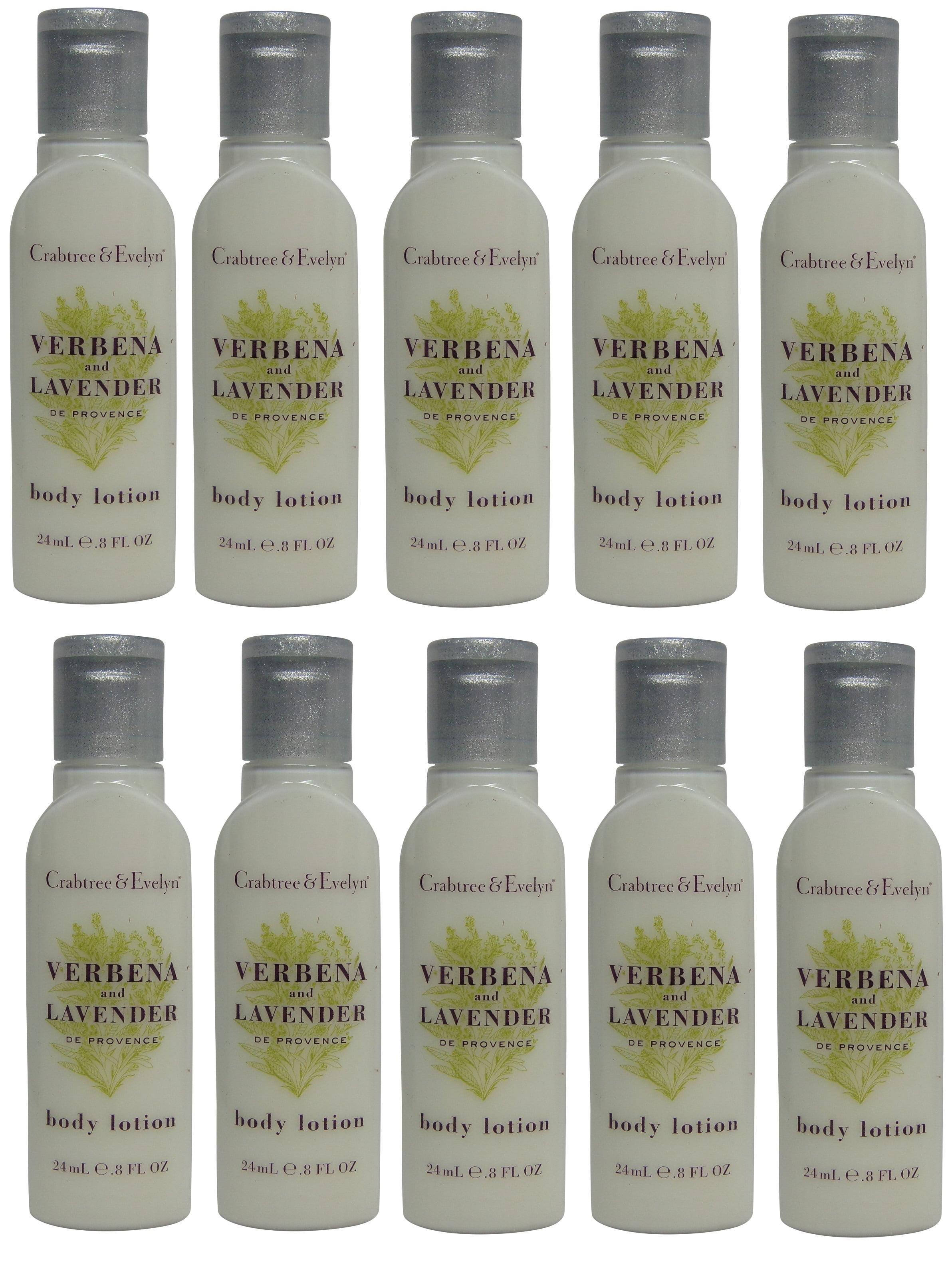 Crabtree & Evelyn Verbena & Lavender Body Lotion Lot of 10 each 0.8oz Bottles. Total of 8oz