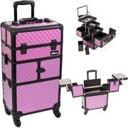 Sunrise I3564DMPLB Purple Dmnd Trolley Makeup Case - I3564