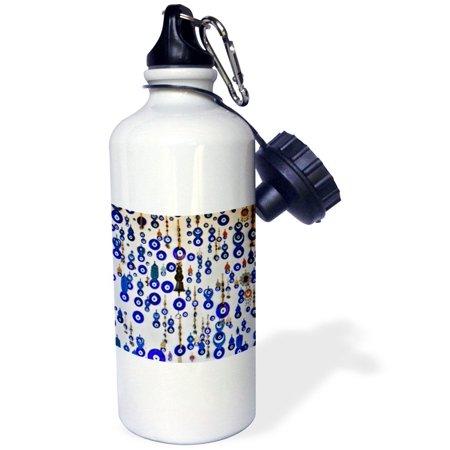 3Drose Evil Eyes For Sale In Shop Near Castle  Cappadocia  Central Turkey  Sports Water Bottle  21Oz