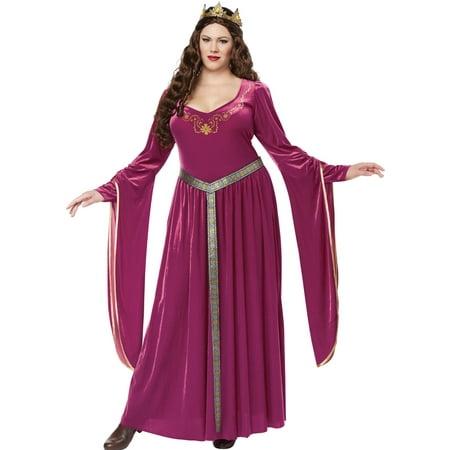 c7d2d4b31ac5d Lady Guinevere Renaissance Magenta Dress Medieval Womens Plus Size Costume  1x-3x - image 1 ...