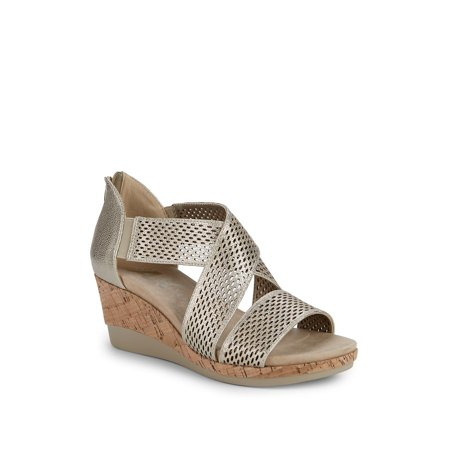 Pebbles Wedge Heel Faux Leather Sandals ()