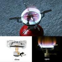 EOTVIA Picnic Round Stove, Mini Stove,Outdoor Titanium Alloy Portable Camping Mini Picnic Round Stove Burner