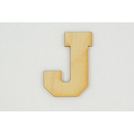 1 Pc 10 Inch X 18 Inch Thick Collegiate Font Wood Letters J Easy To Paint Or Decorate For Indoor Use Only