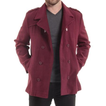 Alpine Swiss Jake Mens Pea Coat Wool Blend Double Breasted Dress Jacket Peacoat