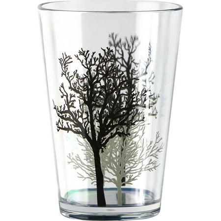 Corelle Coordinates Timber Shadows - 8oz Acrylic Juice Glass Glass set of (Celine Shadow Glasses)