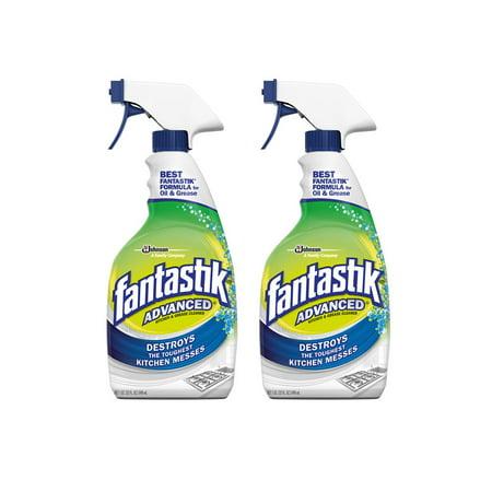 (2 Pack) Fantastik Advanced Kitchen & Grease Cleaner 32 fl oz