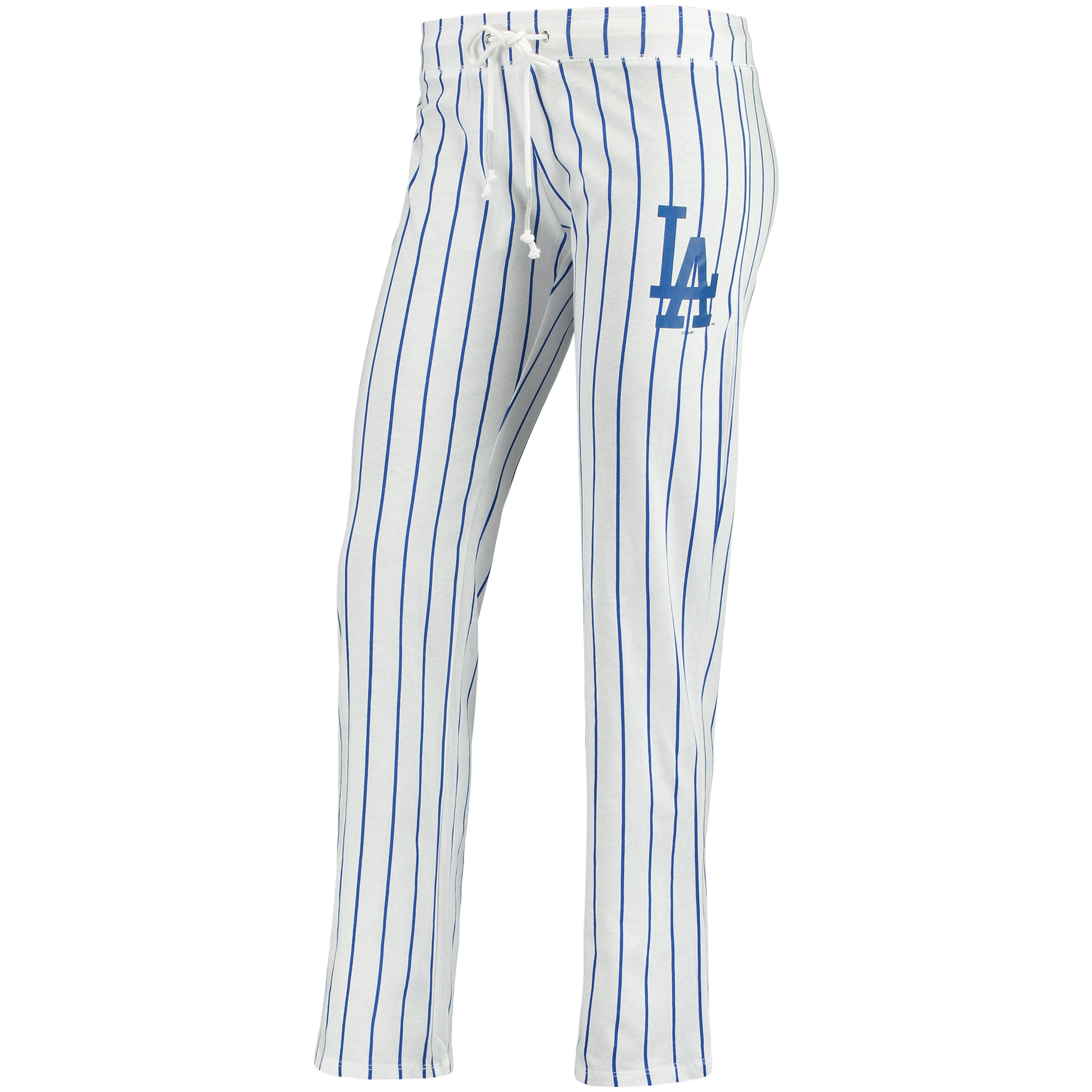 Los Angeles Dodgers Concepts Sport Women's Vigor Pinstripe Sleep Pant - White
