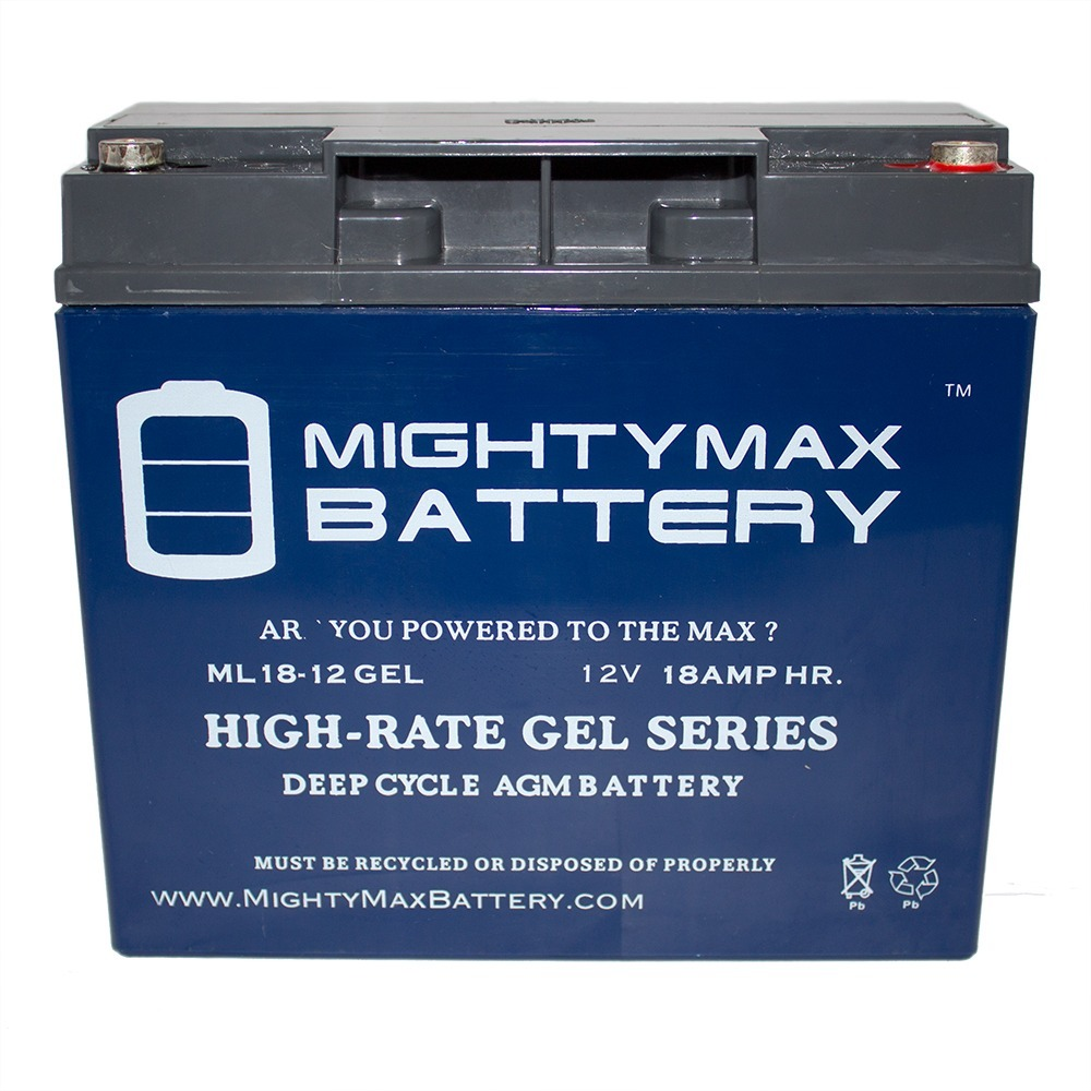 12V 18AH GEL Battery Replacement for Motor 11-414 Jumpstart