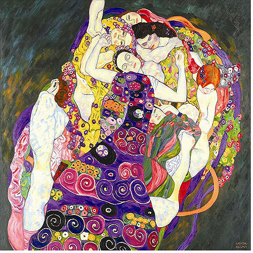 "Trademark Fine Art ""Virgins"" Canvas Art by Gustav Klimt, 20x20"