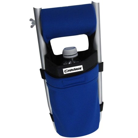 (Crutcheze Royal Blue Crutch Bag - Medical Crutch Accessory Pouch - Tote for Broken Leg On Crutches With Extra Pockets for Loose Items - Lightweight & Washable Crutch Pouch Made In USA)