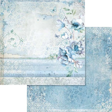 """Stamperia Double-Sided Cardstock 12""""X12""""-Blue Land Flower - image 1 of 1"""
