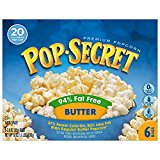 Pop Secret 94% Fat Free Butter Popcorn, 6 Count Boxes (Pack of 8)