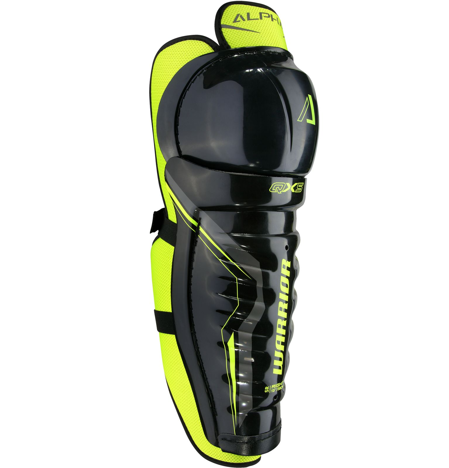 Warrior Sports Alpha Qx5 Senior Hockey Shin Guards ( QX5SGSR7 ) by Warrior Sports
