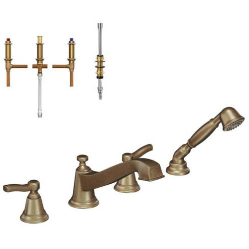"""Moen Krtro-dh-ts925orb Rothbury 8-1/7"""" Roman Tub Faucet with Hand Shower, Available in Various Colors"""