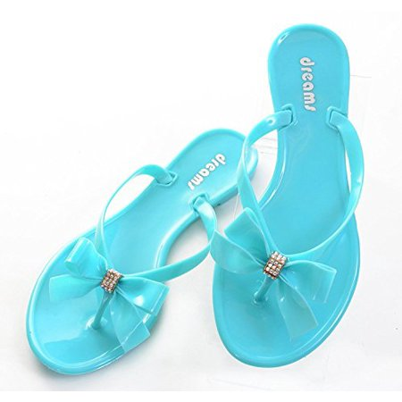 Green Jelly Sandals - Mint Green Jelly Bow Thong Flat Sandal Younger