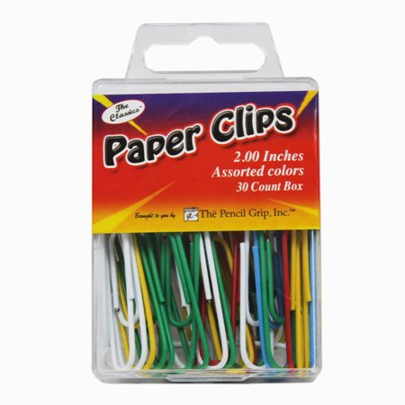 Magnetic Paper Clip Dispenser (JUMBO PAPER CLIP ASSORTED COLORS 2.0 30 PC BOX)