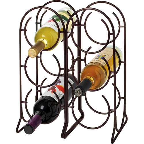 Spectrum Horseshoe 6-Bottle Wine Rack, Bronze